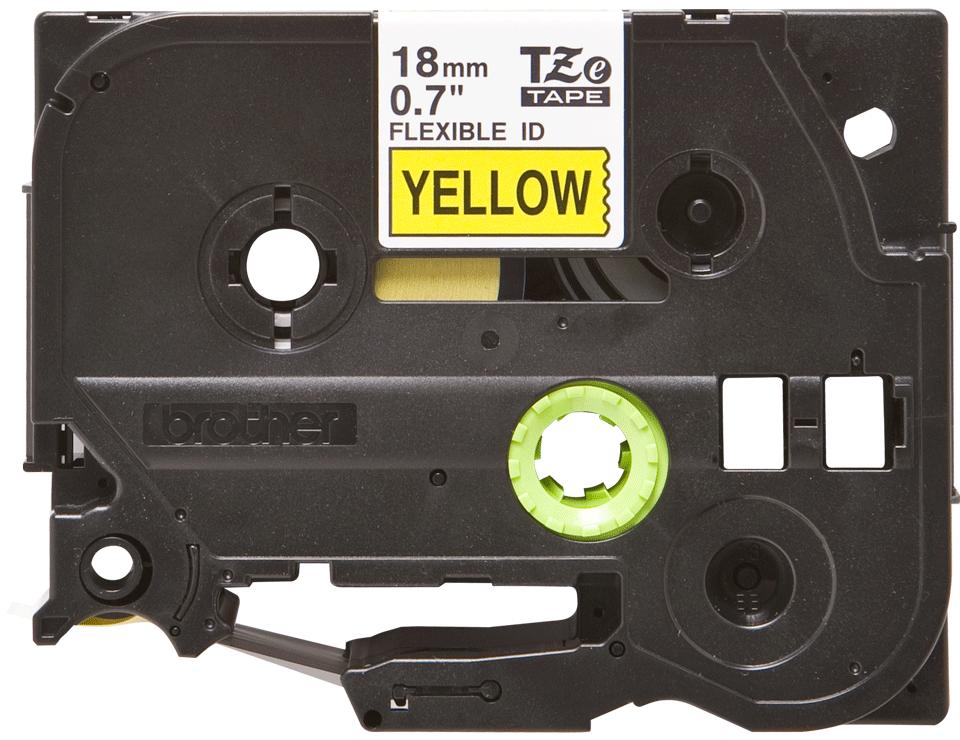 Brother TZe-FX641 Flexi-Tape – schwarz auf gelb 0
