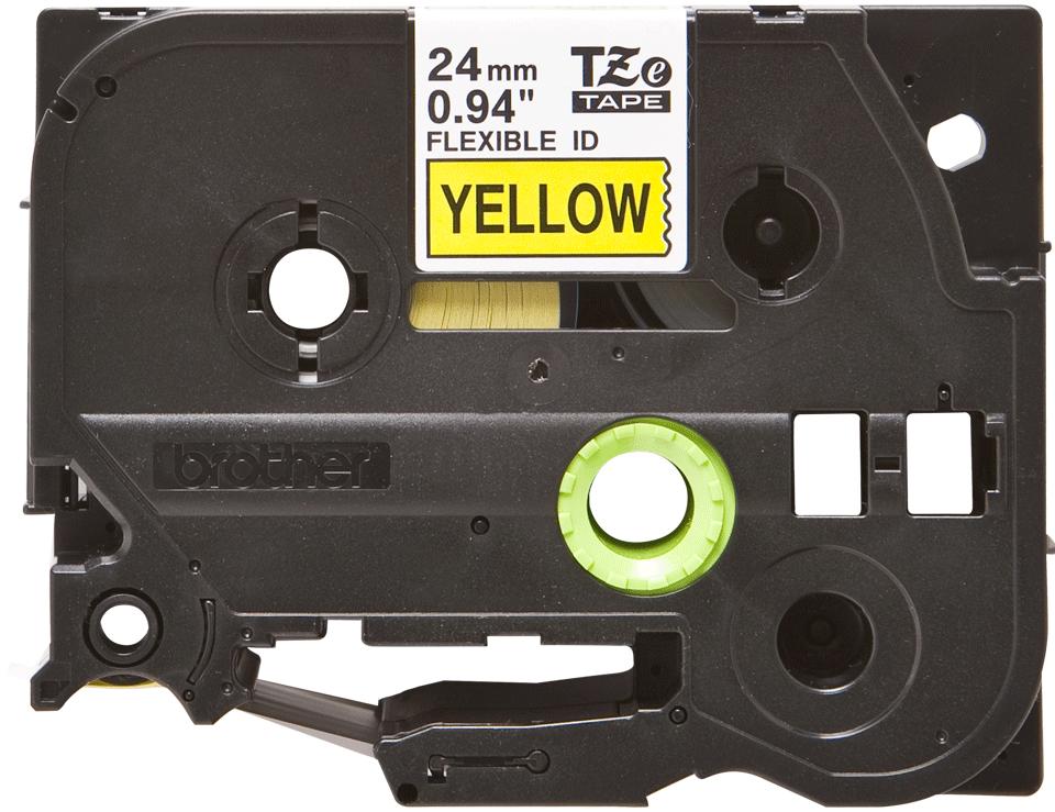 Brother TZe-FX651 Flexi-Tape – schwarz auf gelb