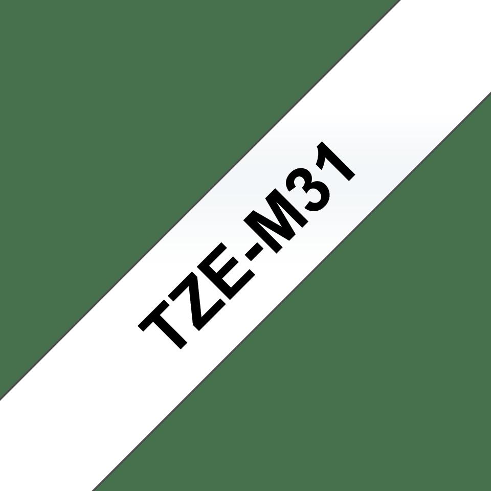 Brother TZe-M31 Schriftband – schwarz auf transparent (matt) 2