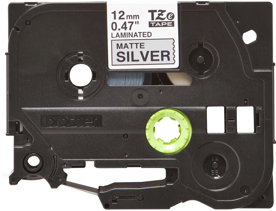 Brother TZe-M931 Schriftband – schwarz auf silber (matt) 3