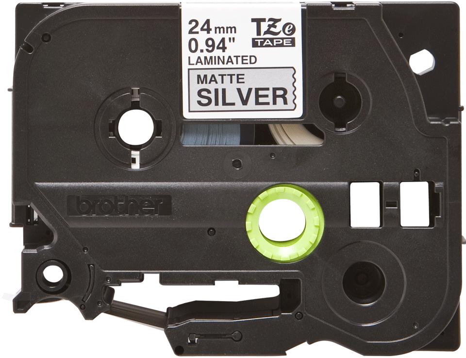 Brother TZe-M951 Schriftband – schwarz auf silber (matt) 0