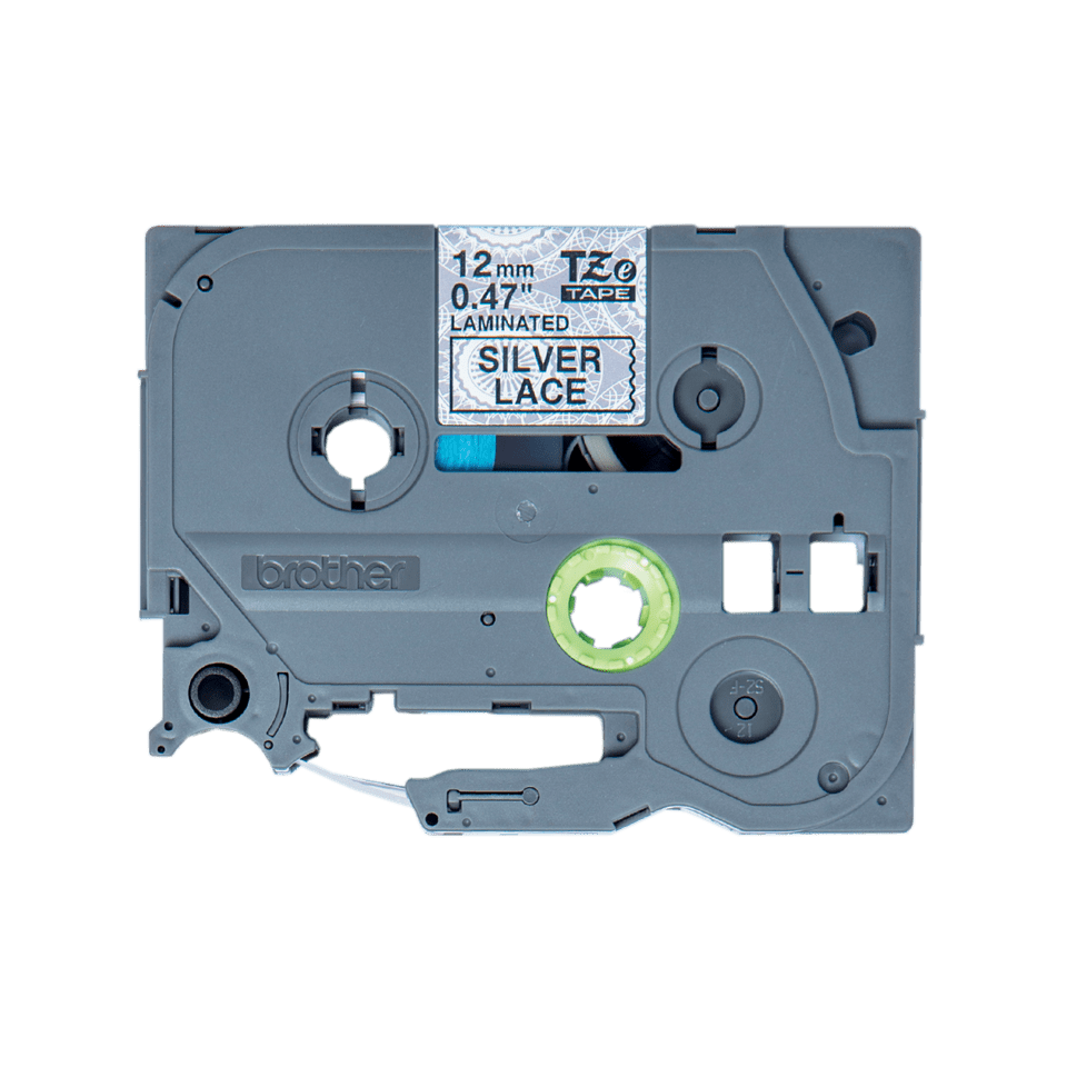 Brother TZe-MPSL31 Schriftband – schwarz auf silbernen Spitzen 3