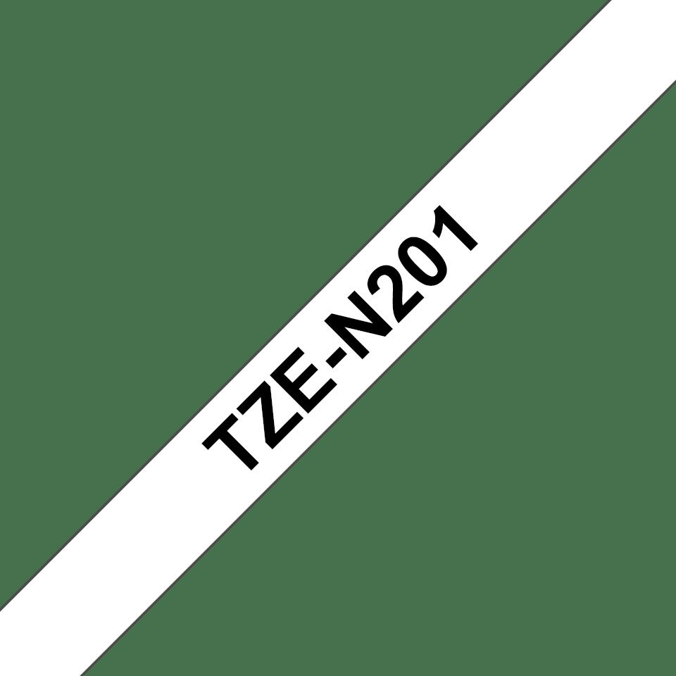 Brother TZe-N201 Schriftband – schwarz auf weiß 1