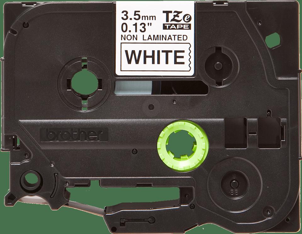 Brother TZe-N201 Schriftband – schwarz auf weiß 0
