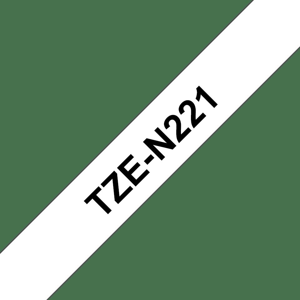 Brother TZe-N221 Schriftband – schwarz auf weiß 2