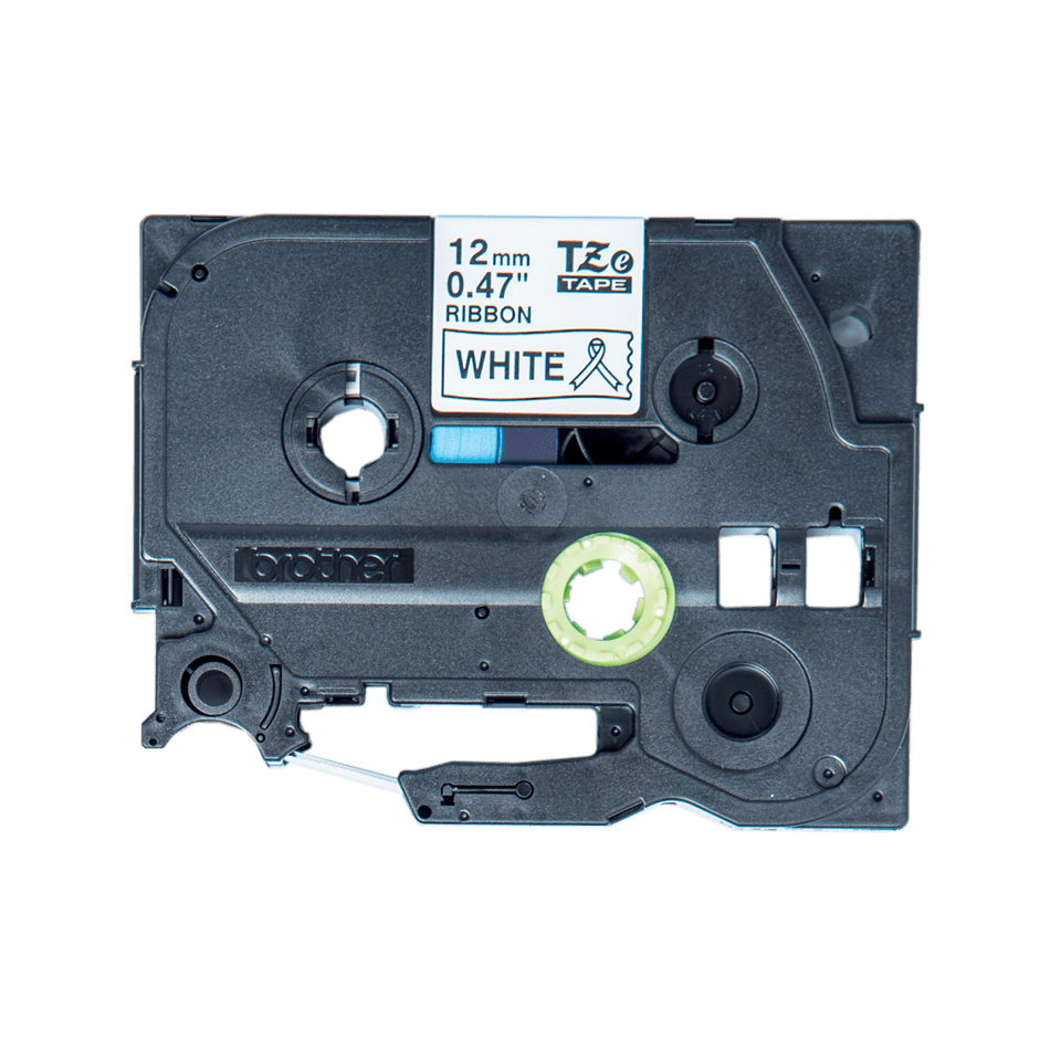 Brother TZe-R231 Textilband – schwarz auf weiß 3