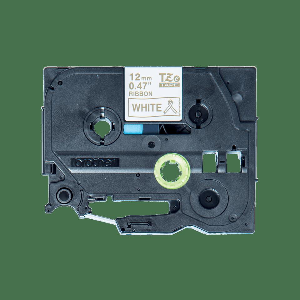 Brother TZe-R234 Textilband – gold auf weiß