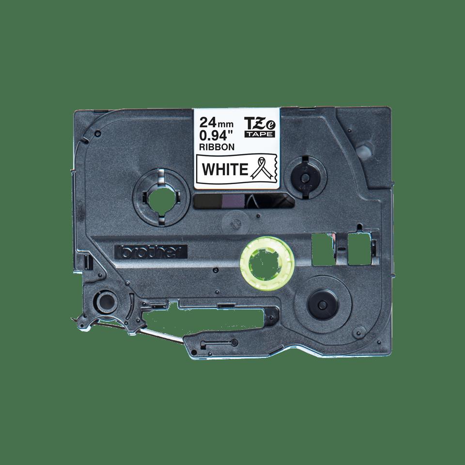 Brother TZe-R251 Textilband – schwarz auf weiß