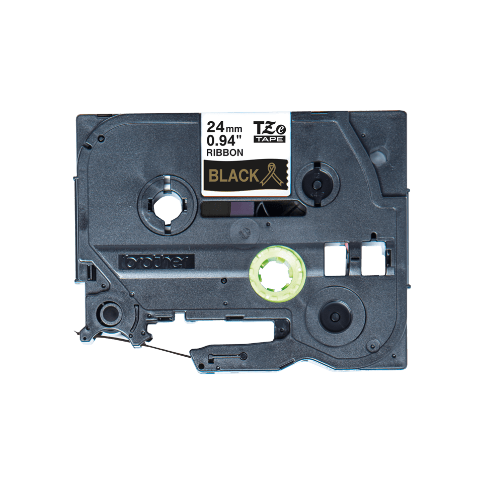Brother TZe-R354 Textilband – gold auf schwarz 2