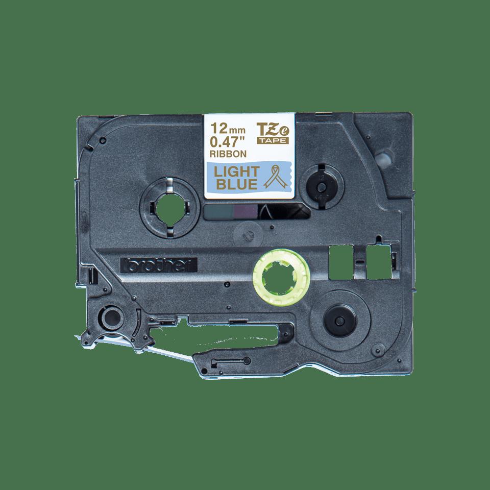 Brother TZe-RL34 Textilband – gold auf hellblau
