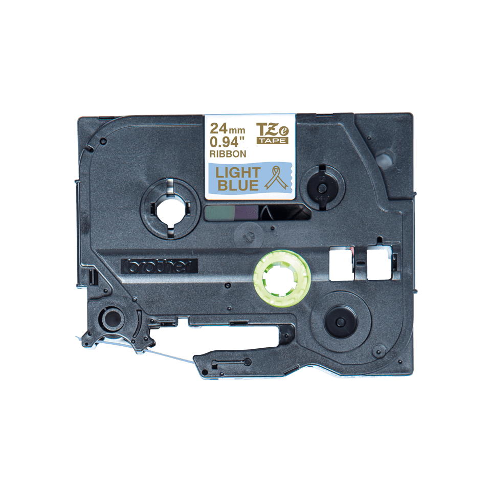 Brother TZe-RL54 Textilband – gold auf hellblau