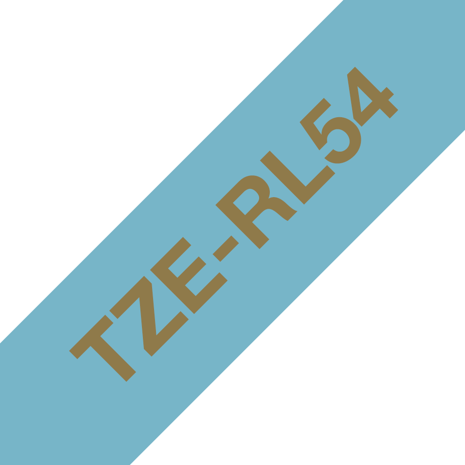 Brother TZe-RL54 Textilband – gold auf hellblau 3
