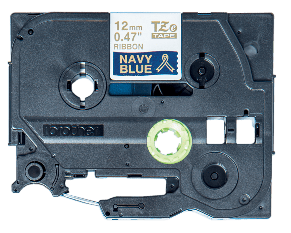 Brother TZe-RN34 Textilband – gold auf marineblau 4