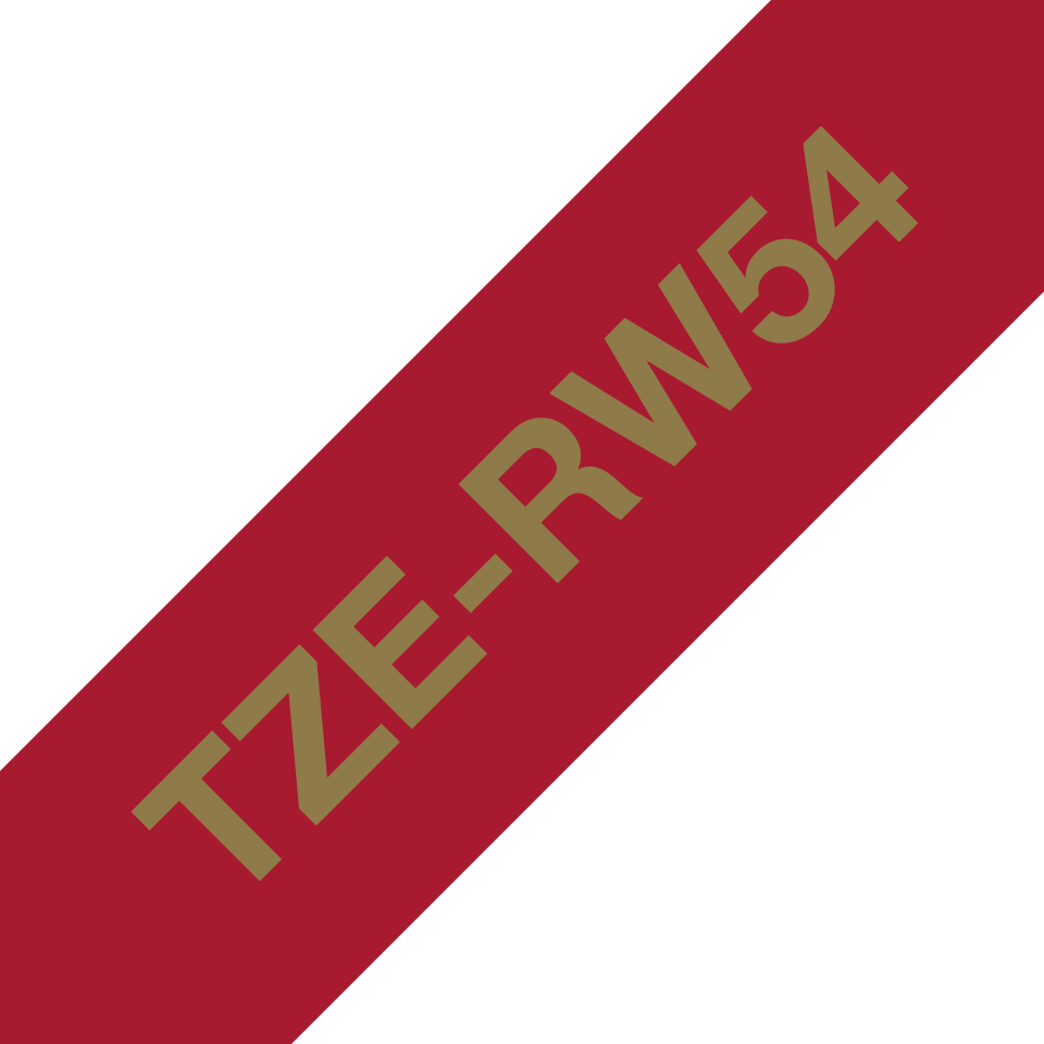 Brother TZe-RW54 Textilband – gold auf weinrot 3