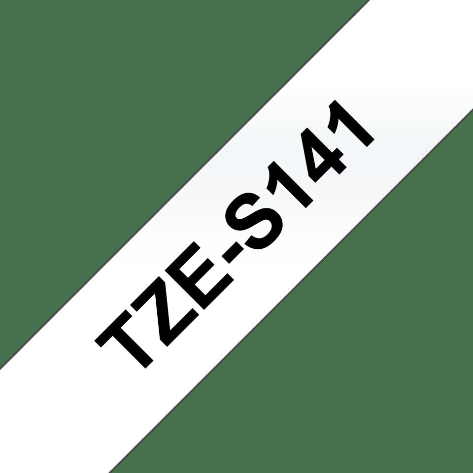 Brother TZe-S141 Schriftband – schwarz auf transparent 2