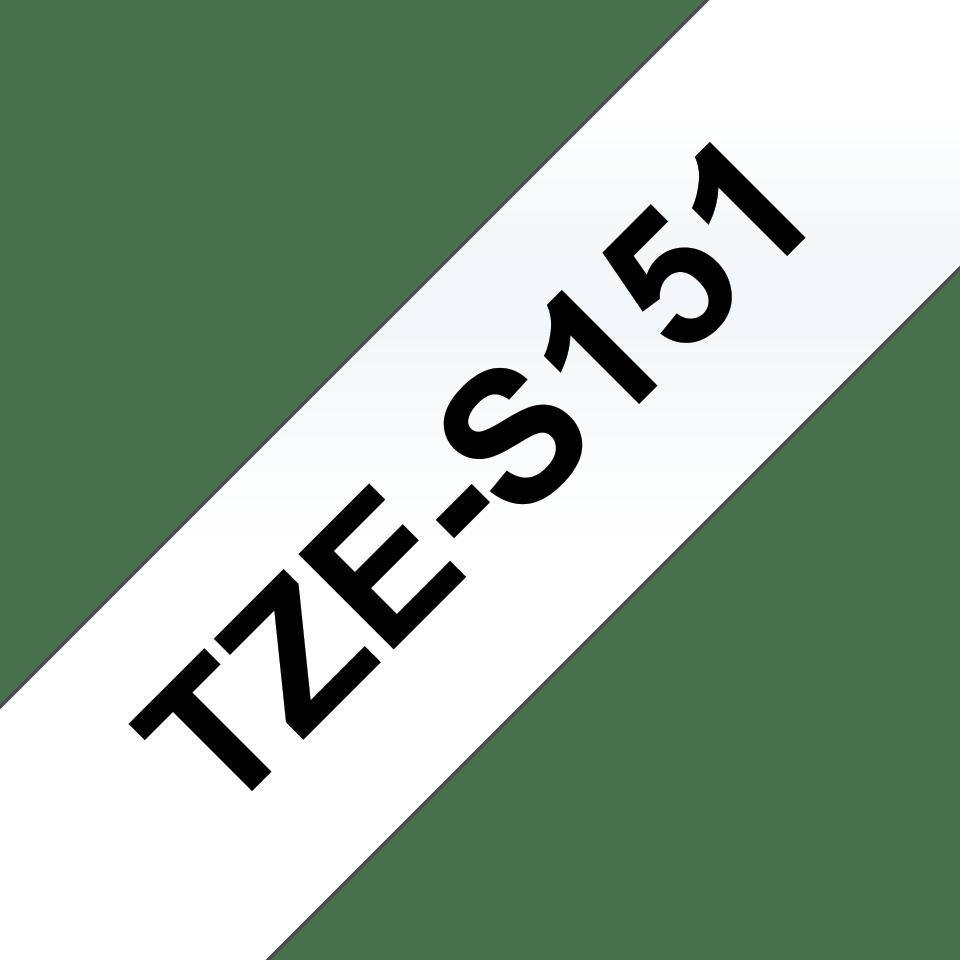 Brother TZe-S151 Schriftband – schwarz auf transparent 3