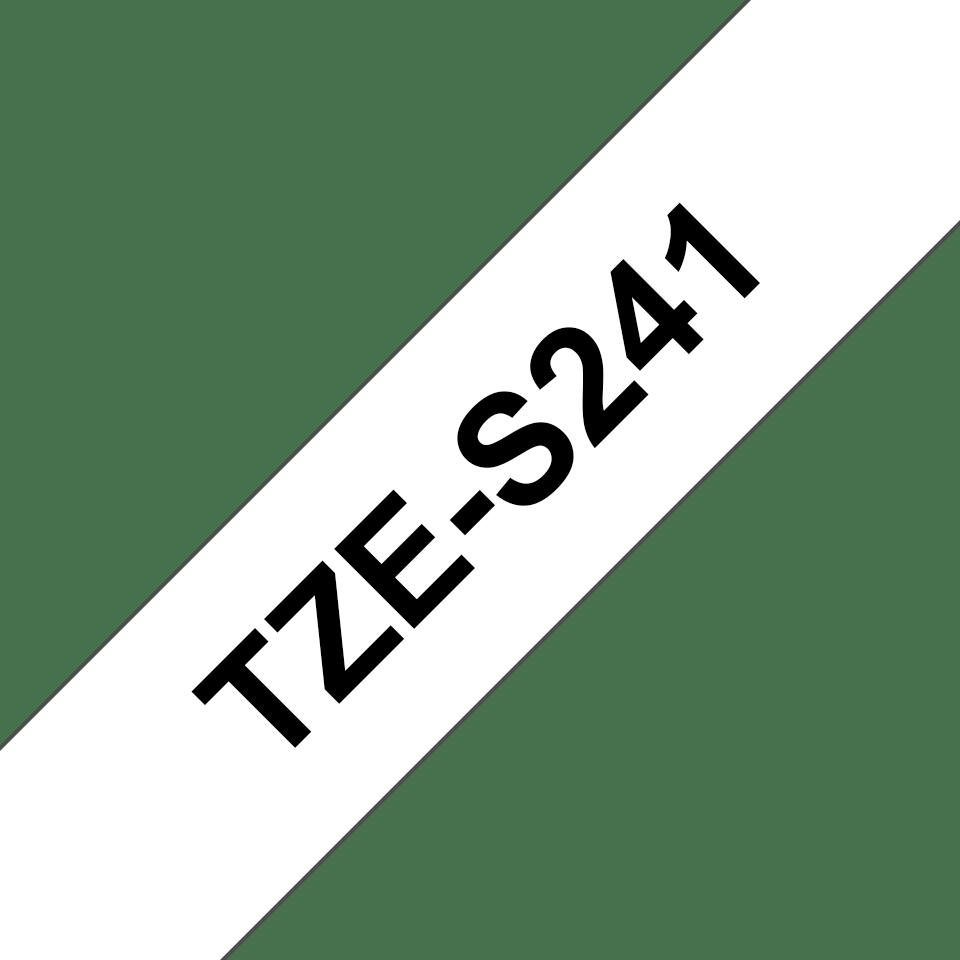 Brother TZe-S241 Schriftband – schwarz auf weiß 2