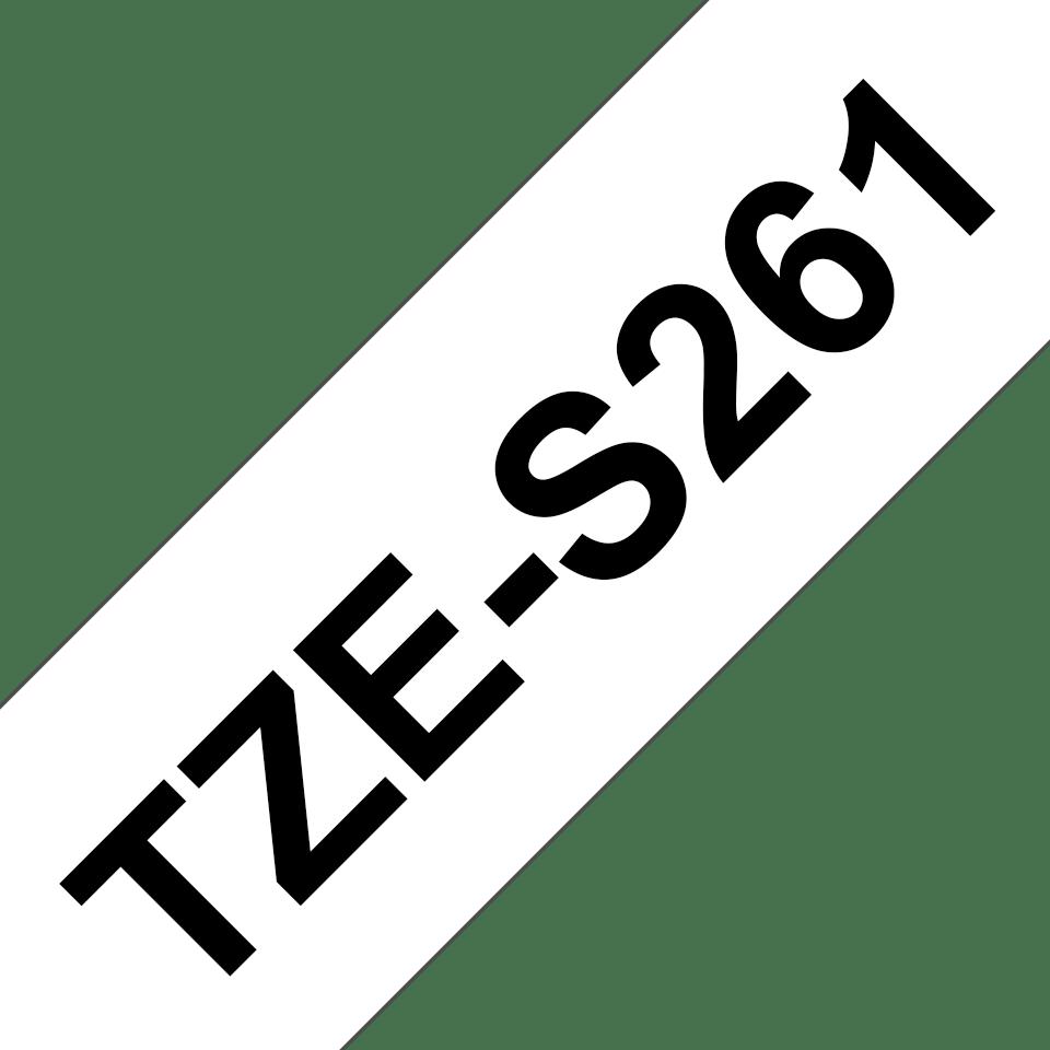Brother TZe-S261 Schriftband – schwarz auf weiß 2