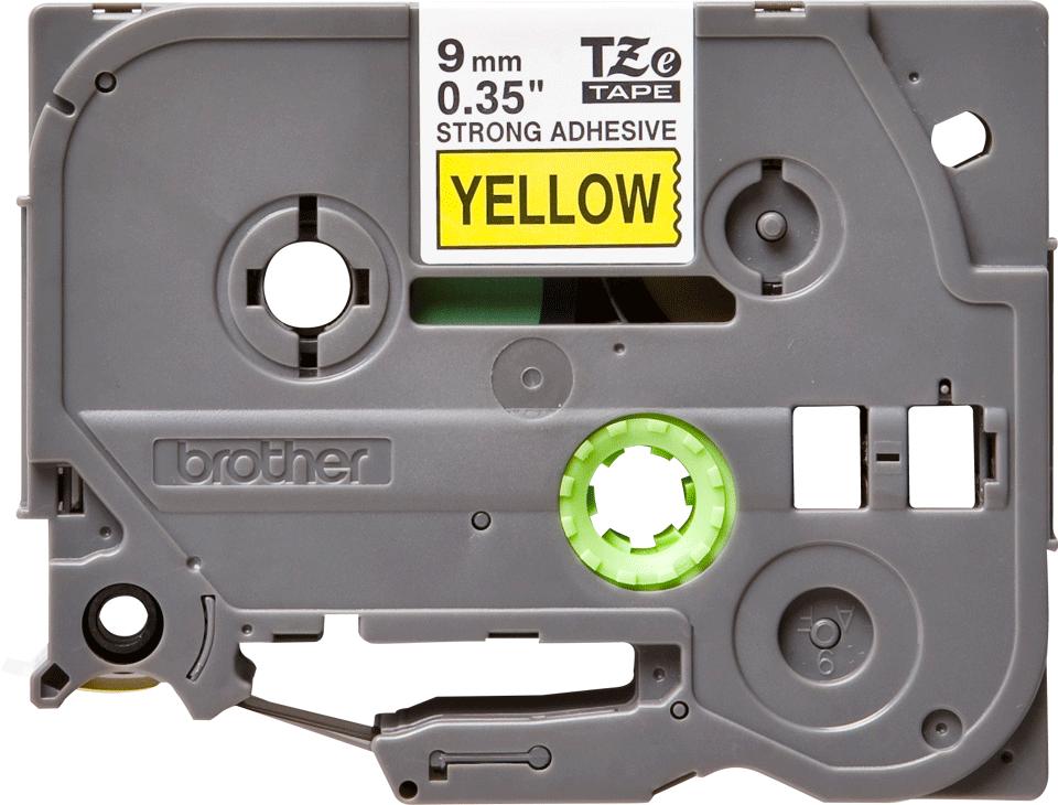 Brother TZe-S621 Schriftband – schwarz auf gelb