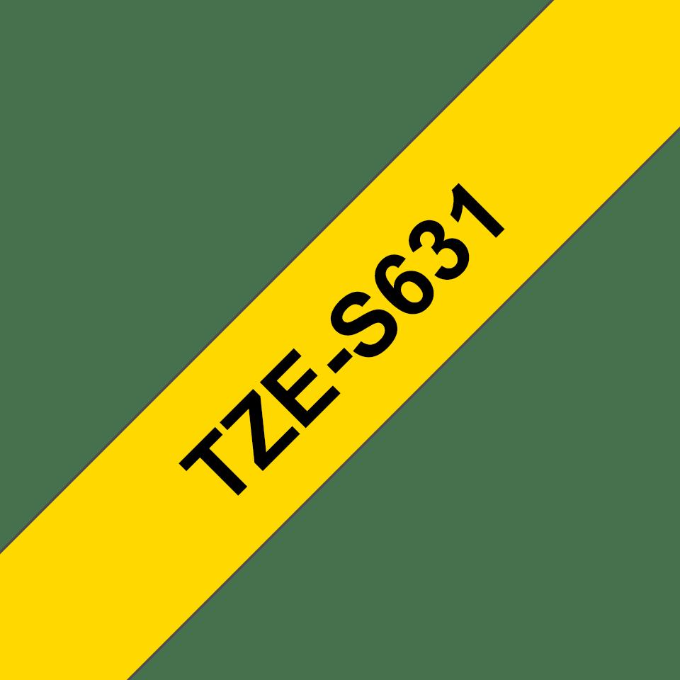 Brother TZe-S631 Schriftband – schwarz auf gelb 2