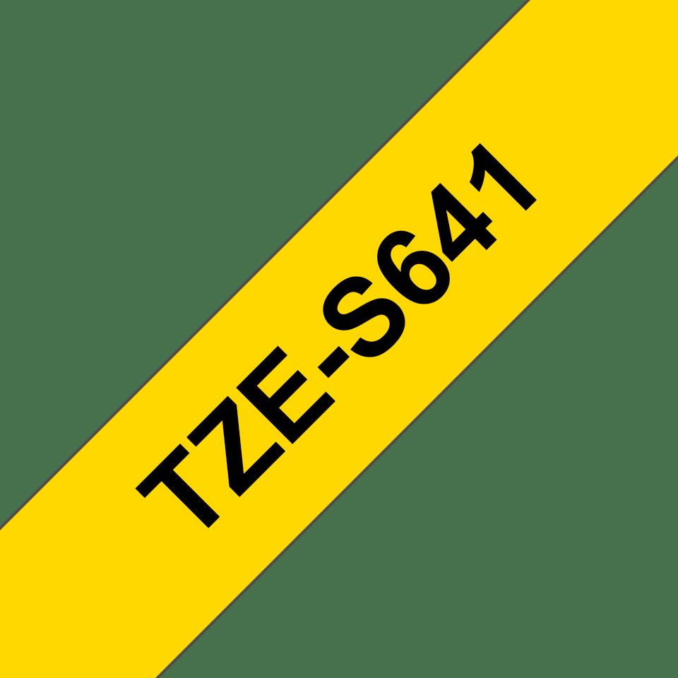 Brother TZe-S641 Schriftband – schwarz auf gelb 2