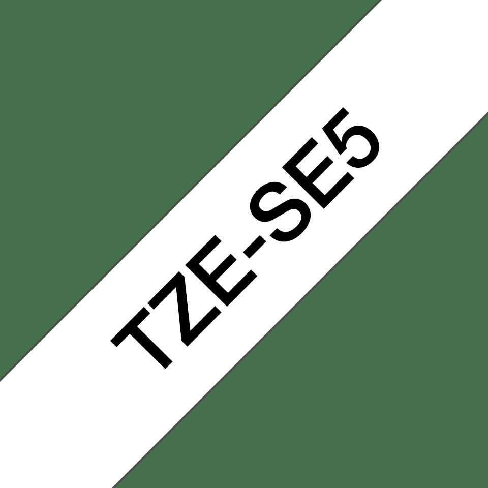 Brother TZe-SE5 Schriftband – schwarz auf weiß 2
