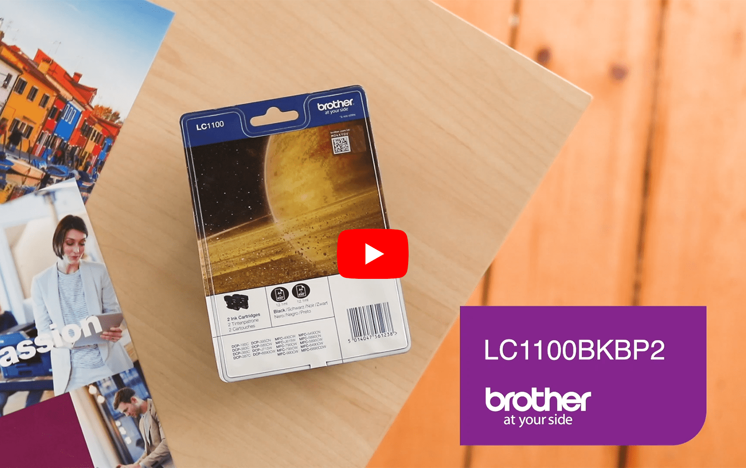 Original Brother LC-1100BK Twin Pack 5
