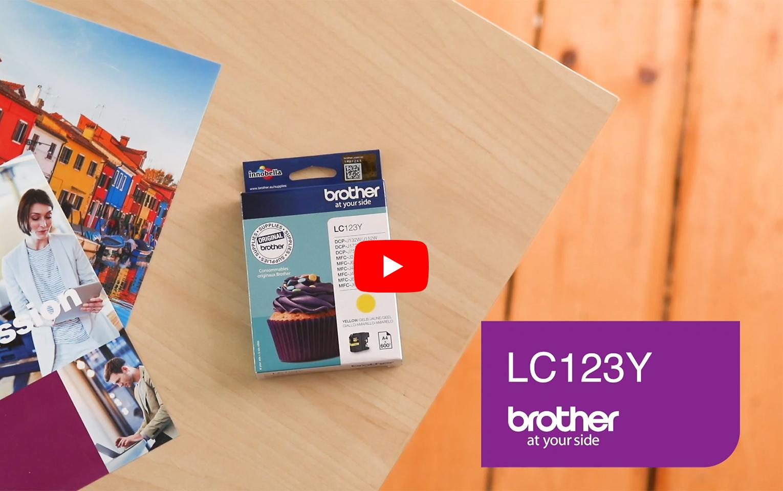 Brother LC-123Y Tintenpatrone – Gelb 5