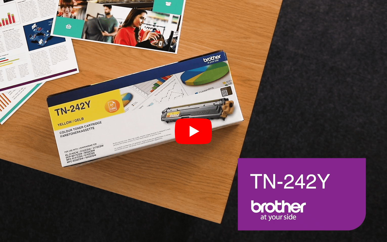 Brother TN-242Y Tonerkartusche – Gelb 6